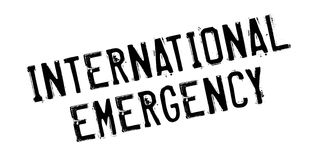 International Emergency rubber stamp. Grunge design with dust scratches. Effects can be easily removed for a clean, crisp look. Color is easily changed Stock Image