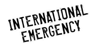 International Emergency rubber stamp Stock Image