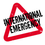 International Emergency rubber stamp. Grunge design with dust scratches. Effects can be easily removed for a clean, crisp look. Color is easily changed Stock Photos
