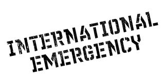 International Emergency rubber stamp. Grunge design with dust scratches. Effects can be easily removed for a clean, crisp look. Color is easily changed Royalty Free Stock Image