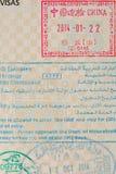 International entry visa Stock Photo
