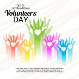 International erbietet Tag freiwillig lizenzfreie abbildung