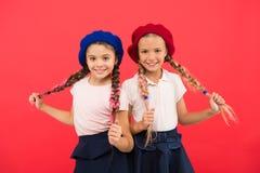 International exchange school program. Education abroad. Apply form enter international school. French language school. School fashion concept. Pupil smiling stock photos