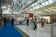 International exhibition of automotive parts Stock Photos