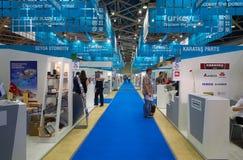 International exhibition of automotive parts Royalty Free Stock Photo