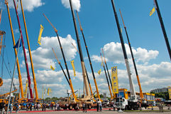 International exhibition Construction equipment and technologies on JUNE 06, 2013. Moscow, Russia. Stock Photography