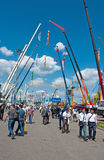 International exhibition Construction equipment and technologies on JUNE 06, 2013. Moscow, Russia. Royalty Free Stock Photo