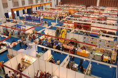 International exhibition hall. A whole view of exhibition hall. This exhibition is called China Xiamen Machinery and Electronics Exhibition (CXMEE), which is Royalty Free Stock Images