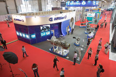 International exhibition of helicopter industry Stock Photos