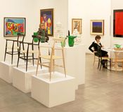 International exhibition of modern and contemporary art Stock Image