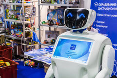 International Exhibition of Robotics and advanced technologies. Moscow, Russia, November 20, 2015: 3rd International Exhibition of Robotics and advanced stock image