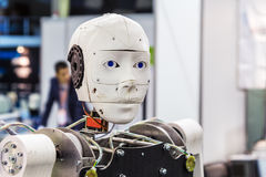 International Exhibition of Robotics and advanced technologies. Moscow, Russia, November 20, 2015: The 3rd International Exhibition of Robotics and advanced stock image