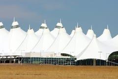 international för flygplatsdenver värme Arkivfoto