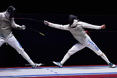 International fencing tournament St. Petersburg Foil 2015 Royalty Free Stock Images