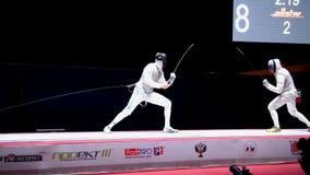 International fencing tournament St. Petersburg Foil 2015 stock video footage