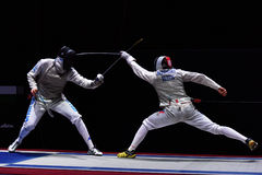 International fencing tournament St. Petersburg Foil 2015 Stock Images