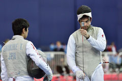 International fencing tournament St. Petersburg Foil 2015 Royalty Free Stock Photos