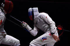 International fencing tournament St. Petersburg Foil 2015 Stock Photography