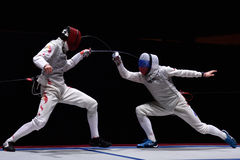 International fencing tournament St. Petersburg Foil 2015 Stock Photos