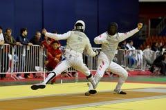 International fencing tournament St. Petersburg Foil 2015 Royalty Free Stock Image
