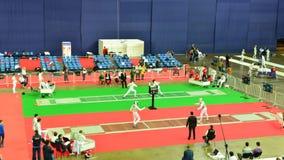 International fencing tournament St. Petersburg Foil 2015 stock footage