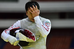 International fencing tournament St. Petersburg Foil 2015 Royalty Free Stock Photography