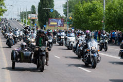 International Festival of bikers. Royalty Free Stock Images