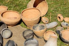 International Festival Days of Life Archaeology in Kernave. Kernave, Lithuania - July 4, 2015: International Festival Days of Life Archaeology in Kernave. There Stock Photo