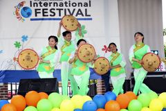 International Festival and Fashion Show Royalty Free Stock Photography