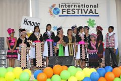 International Festival and Fashion Show Stock Photo