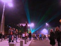 International festival of light ,Bucharest 2015 Stock Photo