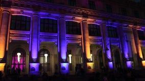 International festival of light, Bucharest 2015 stock video