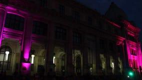 International festival of light, Bucharest 2015 stock footage