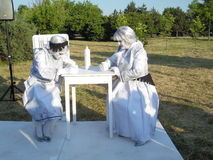 International Festival of Living Statues 2015. Stock Photography