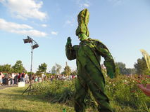 International Festival of Living Statues 2015. Royalty Free Stock Photography