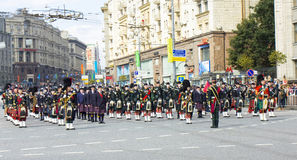 International festival of military orchestras, orchestra of Scot Stock Photos