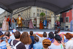 International festival- plays about life of the Moscow nobility stock image