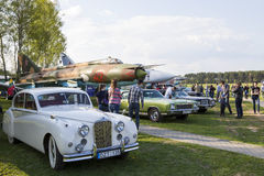 International festival of retro cars  in Minsk Royalty Free Stock Photography