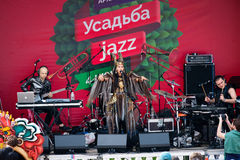 International Festival Usadba Jazz Stock Photos