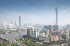 International Finance Center in morning. Guangzhou Pearl river, Canton TV Tower, International Finance Center in morning in Guangzhou, China Royalty Free Stock Images