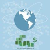 International finance world map global money business Stock Photos