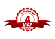 International Firefighters Day, 4 may. red calendar. Eps 10 illustration Royalty Free Stock Photo