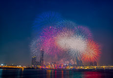 International Fireworks Festival. At the 63 Building in Seoul,South Korea Royalty Free Stock Photo