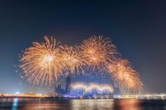 International Fireworks Festival at the 63 Building in Seoul,South Korea. Stock Images