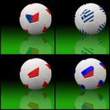 International flag on 3d football Stock Photos