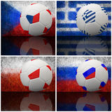 International flag on 3d football Stock Image
