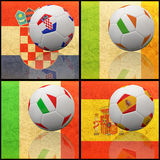 International flag on 3d football. For background 2012 Group C Royalty Free Stock Photos