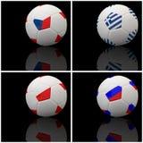 International flag on 3d football Royalty Free Stock Photography