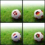 International flag on 3d football Royalty Free Stock Photo