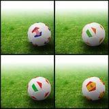 International flag on 3d football Stock Image